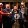 Coleman '63, Marks '76, Headmaster Lamb and Stebbins '78