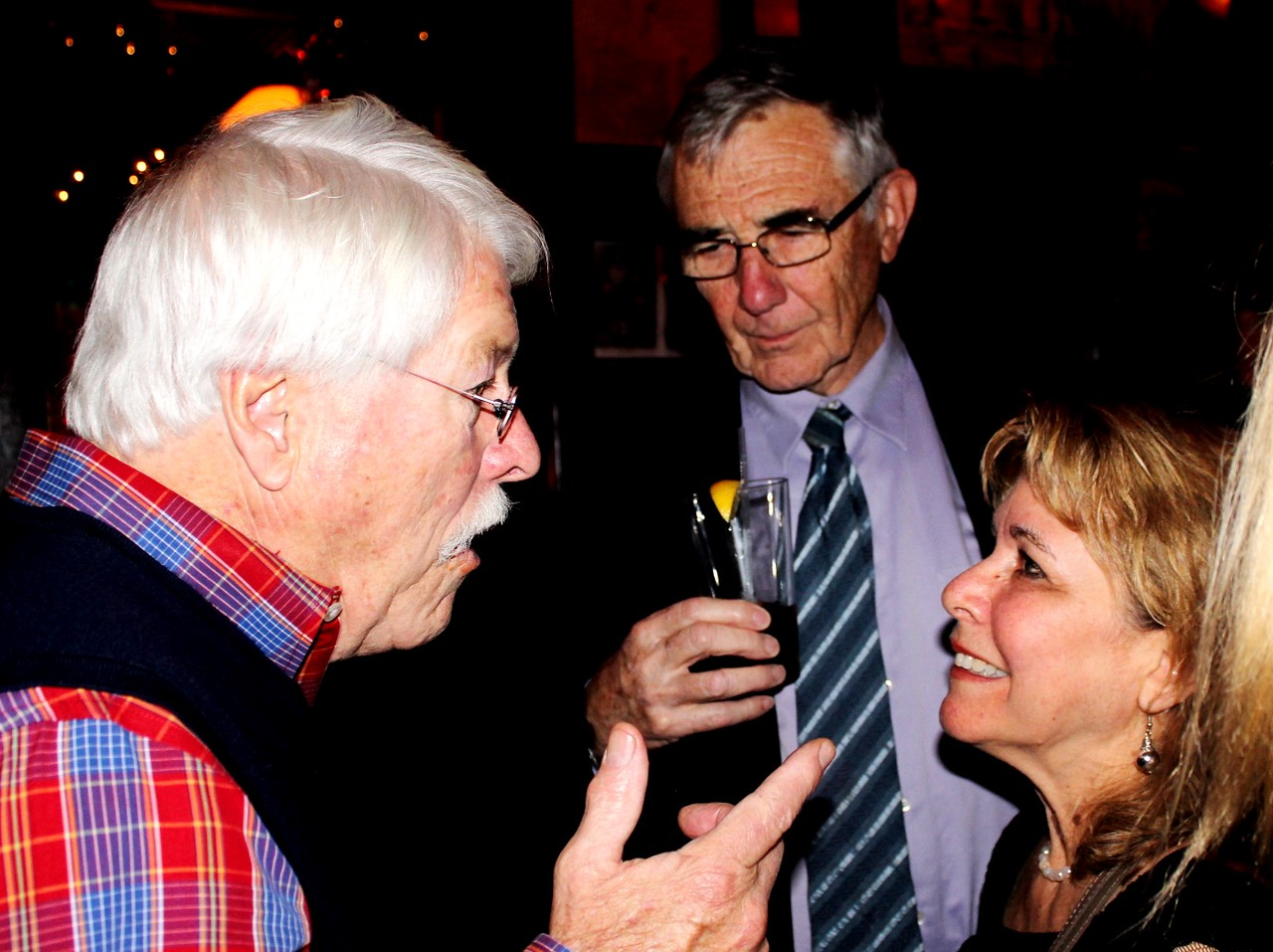 de Racey Gilbert '60, Tom Delaney '58 and Denise Sollami P'02, P'08, P'09