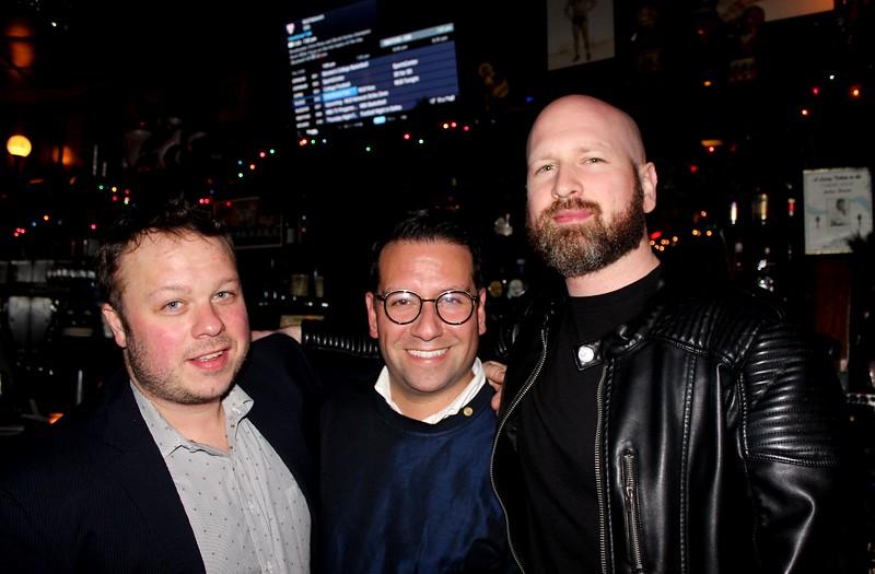 Eric Lonergan '02, David Perez'02 and Rian Wroblewski '01