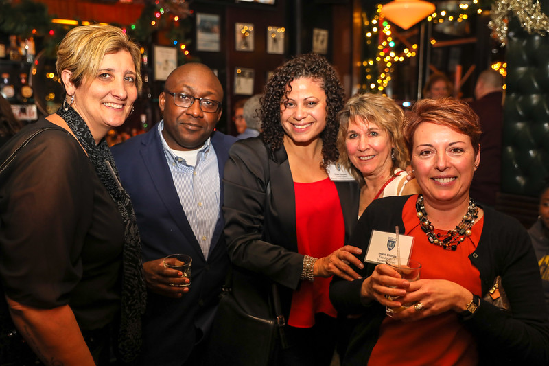 Rosemarie Smith, Serge Ngwanza, Grace Vazquez (all Current Parents) with Past Parent Denise Sollami, Assistant to the Headmaster and Current Parent Ingrid CIunga, Registrar