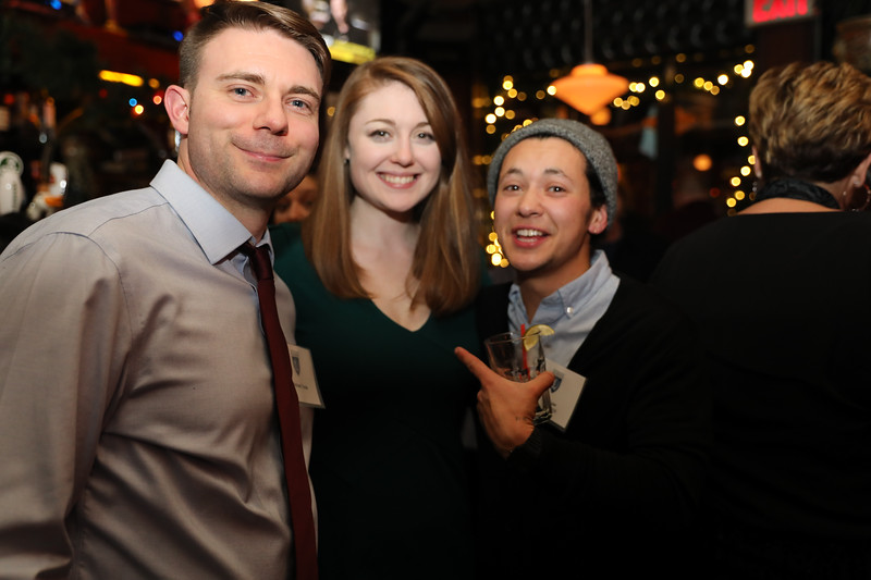 Mike Toole, Sarah Fulton '09 and Han Feuer '09