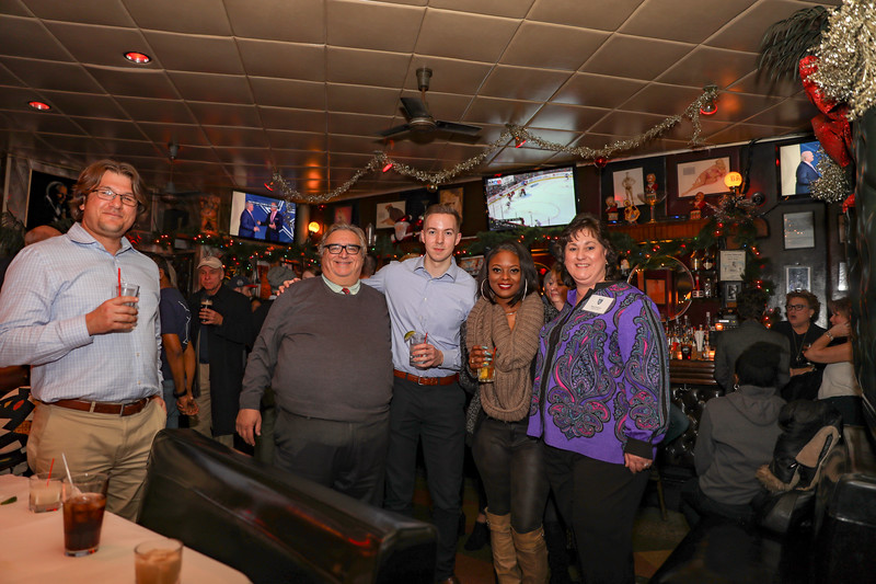 Marek Pramuka, Athletic Director Joseph Graziosi, Julius Sefcik '12, Crystal Findley '11 and Faculty Stacy Graziosi