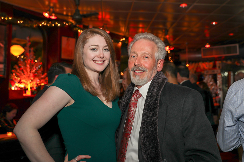 Director of Annual Giving and Special Events Sarah Fulton '09 and Board of Trustees President Roger Auerbacher '66