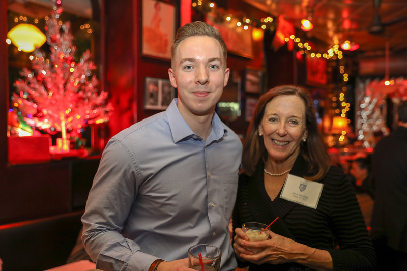 Julius Sefcik '12 and Alumni Director Lynn Crevling '72
