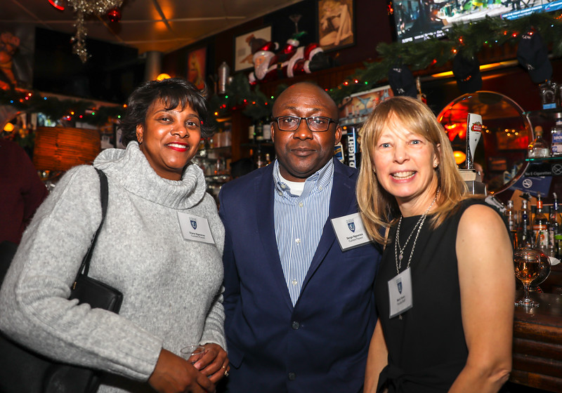 Diane and Serge Ngwanza P'22 with College Counselor Marti Kwon