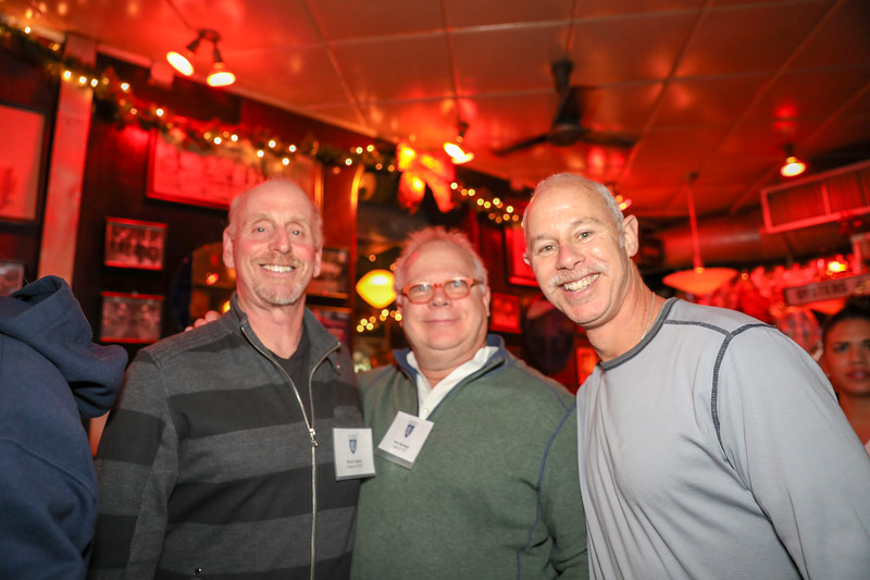 Alumni Council President Scott Cantor '73, Gary Springer '72 and Steve Bluth '83