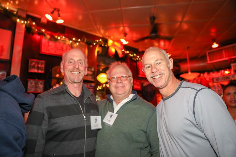Alumni Council President Scott Cantor '73, Gary Springer '72 and Steve Bluth '83