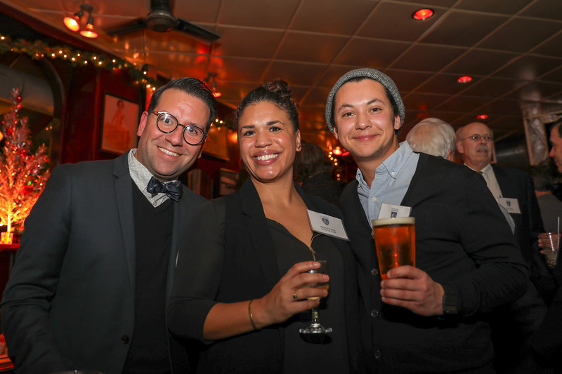 David Perez '02, Rachel Perez '04 and Han Feuer '09