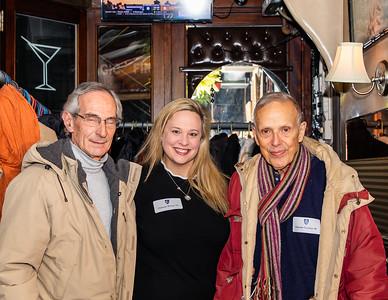 Former Faculty Bill Cesario; Trustee Christine Watson '94, and Eduardo Sanchez '60