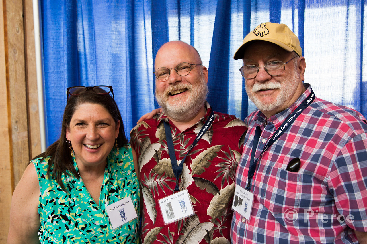 Deena Ferguson, Justin Abelson '74, Paul Davis, Past Faculty