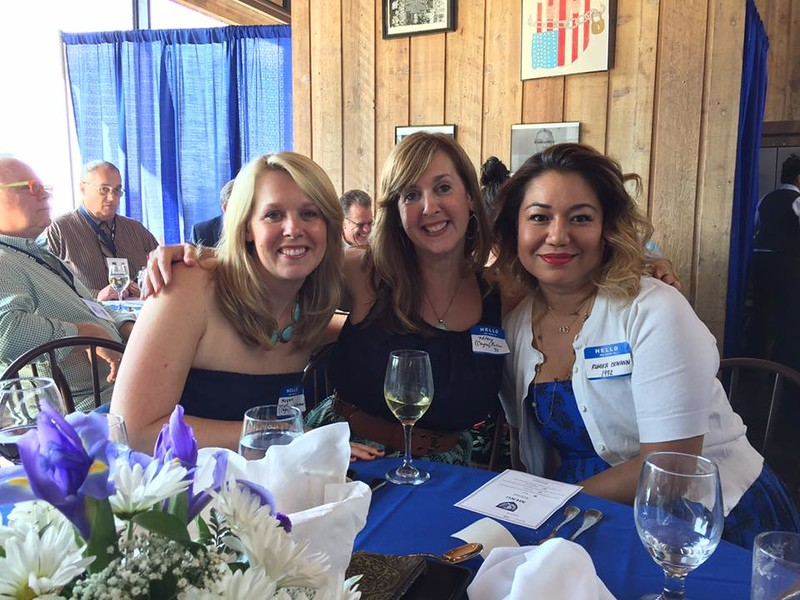 Megan Cayea Shreiner '93, Hilary Cayea Fuller '92 and Rumika Isemann '92