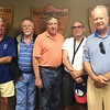 The golfers: Doug Capers '67, Bob Docherty '72, Chris Capers '74, Doug Burg '71 and Averell Fisk '67