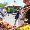 David Scheiner '80 loading up on lobster, shrimp and corn!
