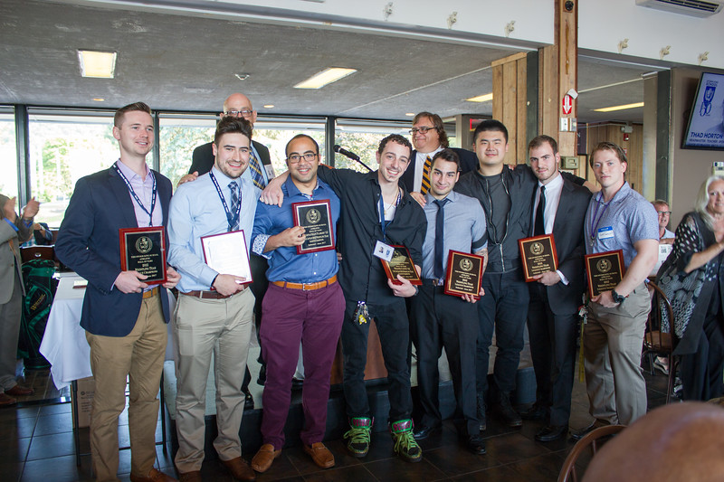 2012 Wrestling Team inducted into the SKS Sports Hall of Fame: Ken O'Connor, past Coach and Faculty; Harris Ackermann '12; Rich Watts, Coach; Johnathan Flores '12; Frank Conti '12; Joseph Graziosi, Past Coach and current Athletic Director and Faculty; James Sahin '14; Chandler Zhang '14, Matt Fascaldi '14 and Scott Greenwald '12