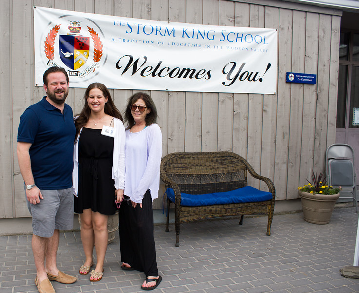 Eric Gatsik '97, Madison Sergi '14 and Amy Kaplan Markel '77