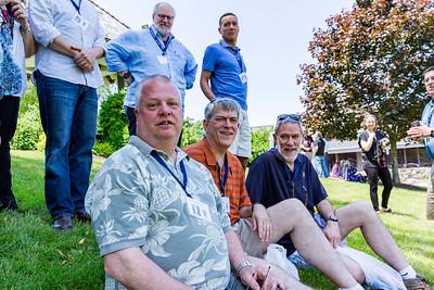 Top: Brion Lipschutz '77, Michael Sloan '77 Bottom: Evan Horton '77, Bob Meynardie '77 & John Meynardie '77