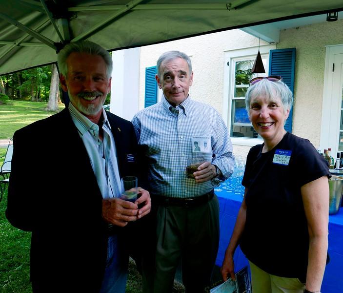 Roger Auerbacher '66, Chris Bonner '66 and Sally Faith Dorfman H'67