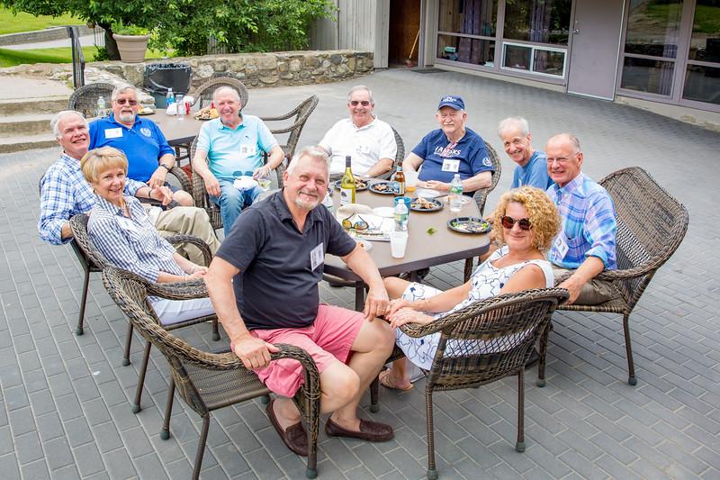 Balazs Szabo '63, Andrea Szabo, Chris Brooks '63, Ted Gross '62, Bob Cory '63, Bruce Hanson '62, Michael Brower '63, Stuart Wilson '63, John Garrett '63 & Rose Garrett