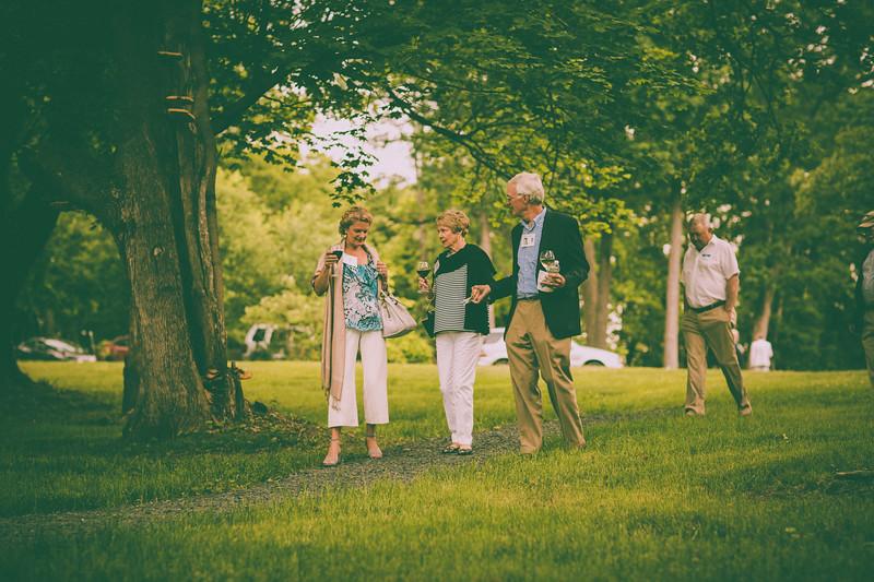 Andrea Szabo, Rose Garrett and John Garrett '63