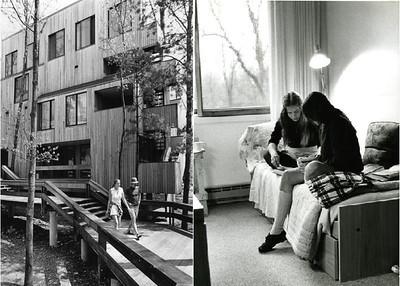 9 - boardwalk and dorm interior