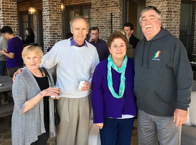 (L-R) John Pfeifer '64 and his wife Caroline, Mike Hogan '69 and his wife Kathleen