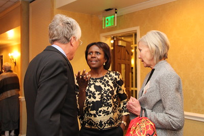Deborah Roberts (ABJ '82), a correspondent with ABC, shared her thoughts at the Return to the Arch kickoff dinner at the UGA Hotel and Conference Center April 29, 2016. She spoke of how hard work trumps everything, lessons learned from her mother about being able to pivot and get things done, and how success is often about staying in the game. She greeted students and alumni, and posed for pictures afterwards.  (Photo/Sarah E. Freeman/Grady College, freemans@uga.edu in Athens, Georgia, on Friday, April 29, 2016)