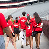 Description: Freshman Welcome Class of 2019<br /> Date of Photo: 8/16/2015<br /> Credit: Dorothy Kozlowski, University of Georgia<br /> Photographic Services File: 32979-084<br /> <br /> The University of Georgia owns the rights to this image or has permission to redistribute this image. Permission to use this image is granted for internal UGA publications and promotions and for a one-time use for news purposes. Separate permission and payment of a fee is required to use any image for any other purpose, including but not limited to, commercial, advertising or illustrative purposes. Unauthorized use of any of these copyrighted photographs is unlawful and may subject the user to civil and criminal penalties. Possession of this image signifies agreement to all the terms described above.