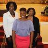 Black Alumni Leadership Council member Lisa Conley (MED '09), UGA Alumni Association Board Member Yvette Daniels (AB '86, JD '89) with first year Black Alumni Scholar Orobosa Idehen