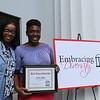 Dr. Michelle Garfield Cook with first-year Black Alumni Scholar Orobosa Idehen