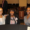 Ericka Davis (AB '93) connecting with two outstanding current UGA students