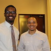 Kenneth Duncan (BBA '16) and Terrance Wrenn (BBA '10, MBA '14) greeting everyone with a smile