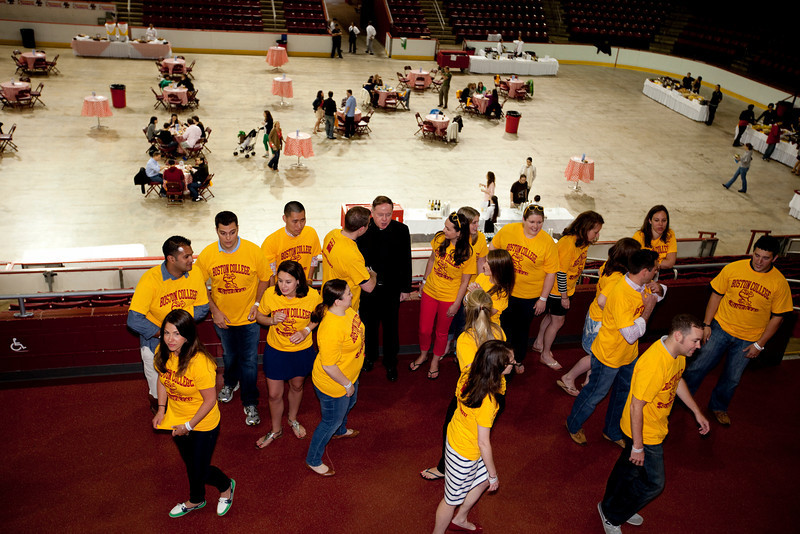 (Chestnut Hill, Massachusetts-- June 2,  2012)-- <br /> Boston College alumnus celebrated reunion on BC's campus this weekend.<br /> Photo by Rose Lincoln for Boston College
