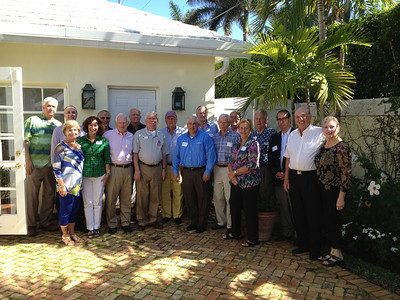 Palm Beach area alumni reception, hosted by Eileen & Larry Fell, '54 at their home in Palm Beach.