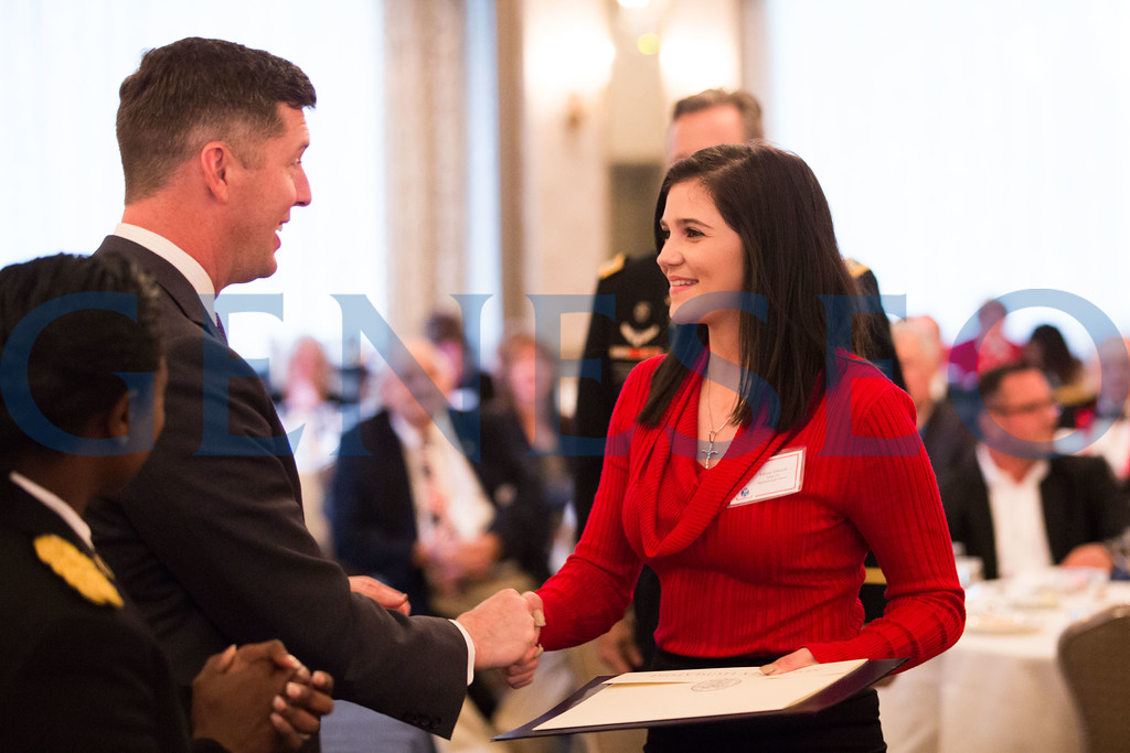 Allison Johnson shakes hands with Secretary of the Army, Patrick J Murphy // 856-448-5242 // allieejohnson32@gmail.com
