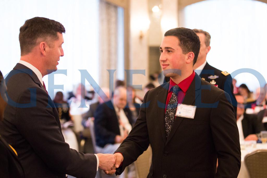 Nicholas Lombardo shakes hands with Secretary of the Army, Patrick J Murphy // bardbros@gmail.com // 856-217-9429