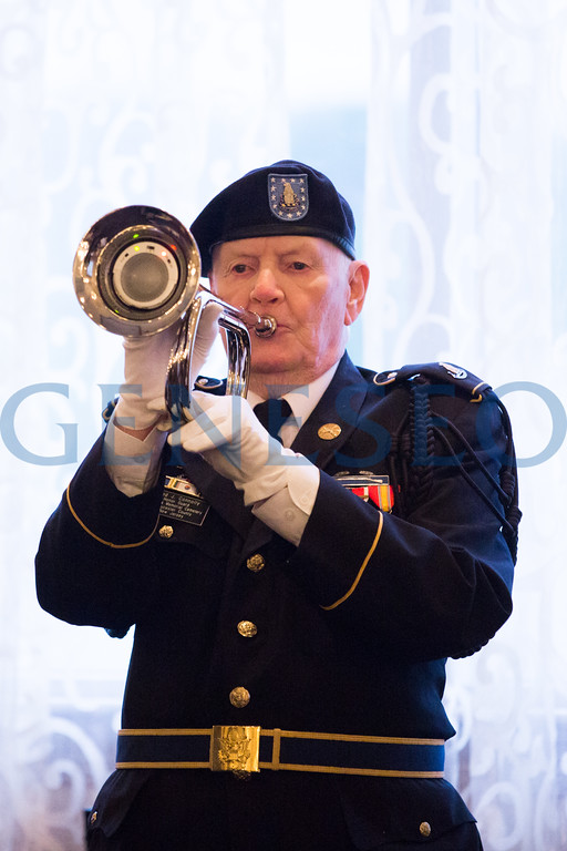 Fred Connolly (Korean War Vet) plays Taps to close out the ceremony.
