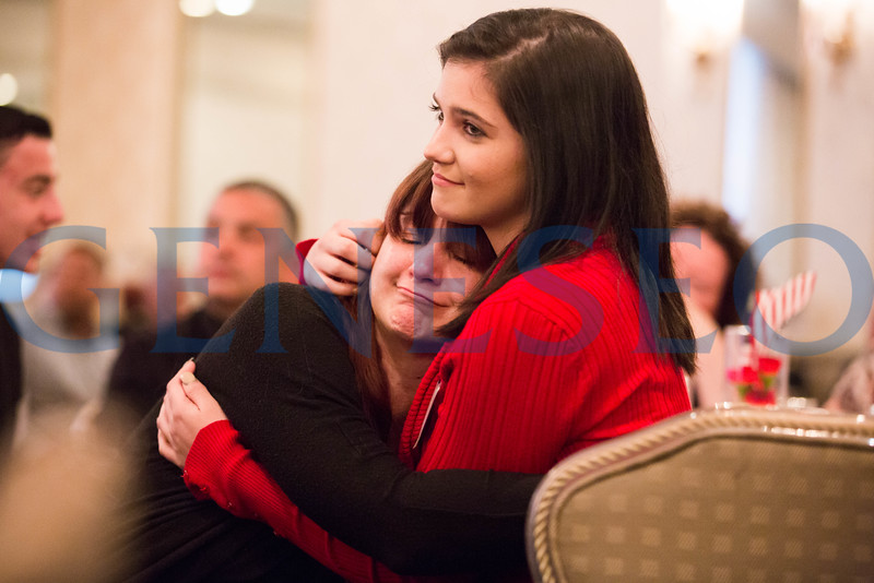 Allison Johnson holds her mother, Tamara, at the Our Community Salutes Dinner // allieejohnson32@gmail.com // 856-448-5242