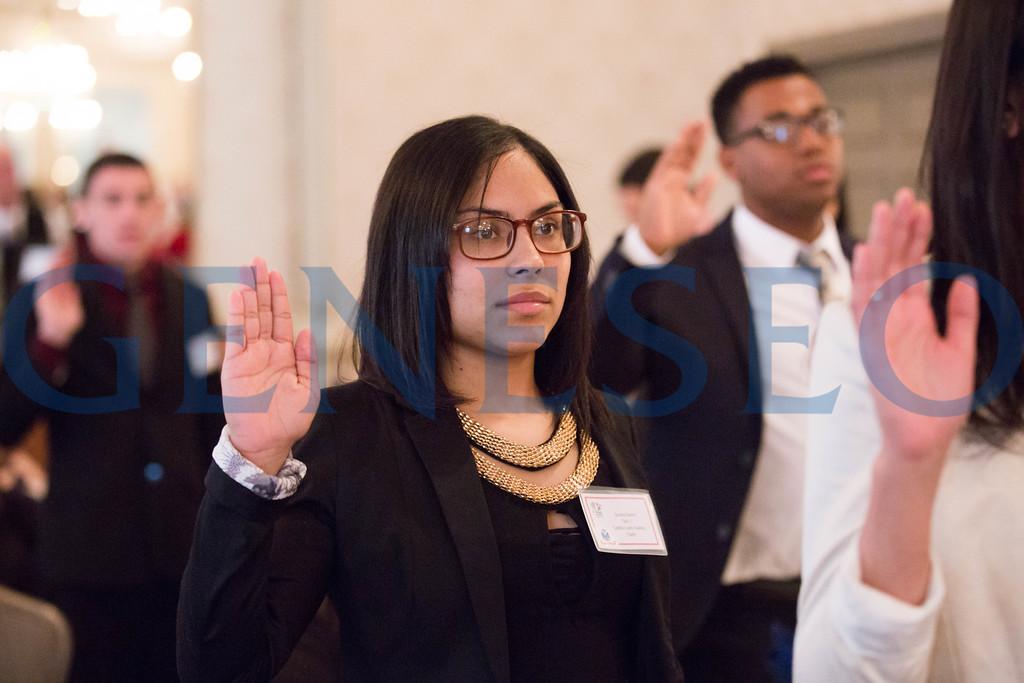 Savanna Sanchez takes the oath of enlistment // 856-295-3911 // savannasanchez98@gmail.com