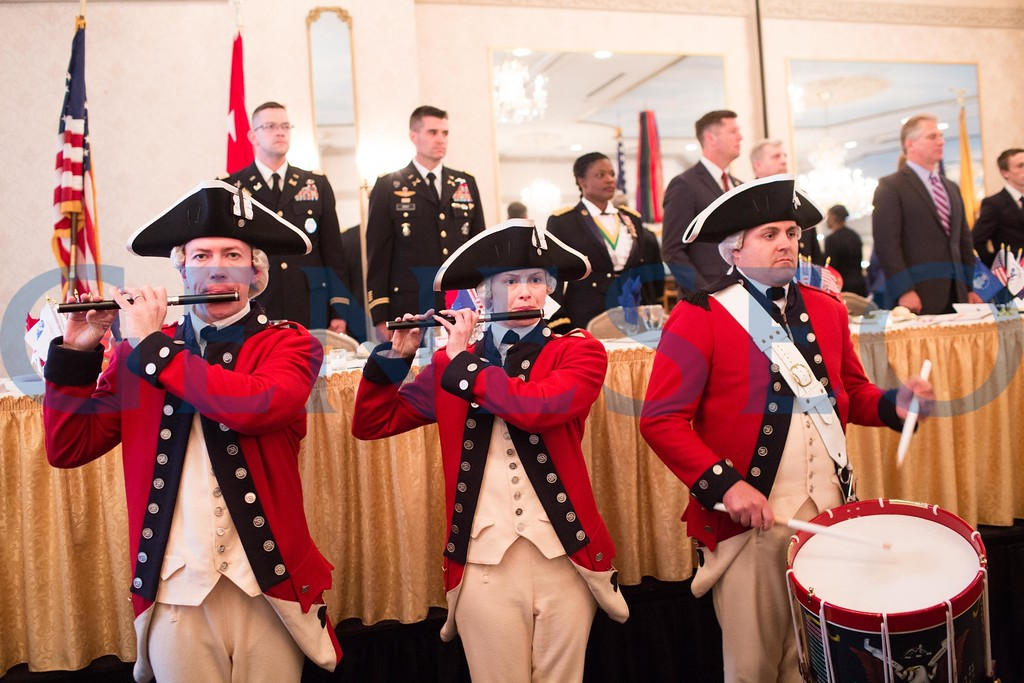 Presentation of the colors and National Anthem USA Field Band — Army Old Guard Fife and Drum Corps