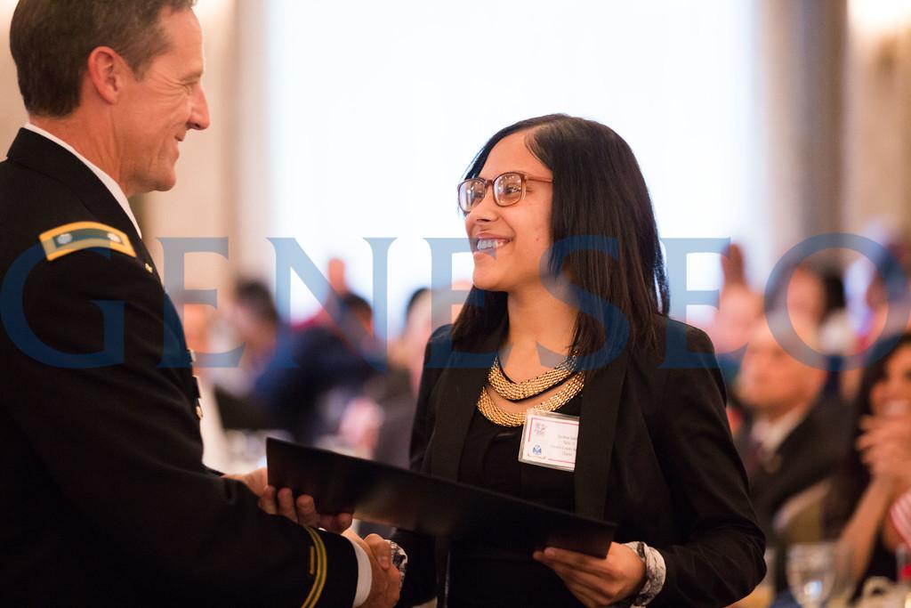 Savanna Sanchez shakes hands with Lieutenant Colonel Ronald Tuczak // 856-295-3911 // savannasanchez98@gmail.com