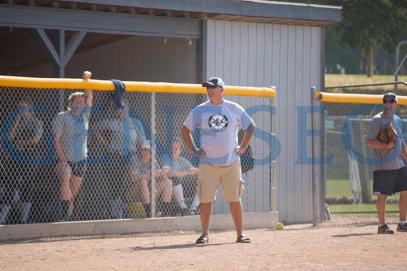 Fall 2017 alumni softball game. Photos by Annalee Bainnson