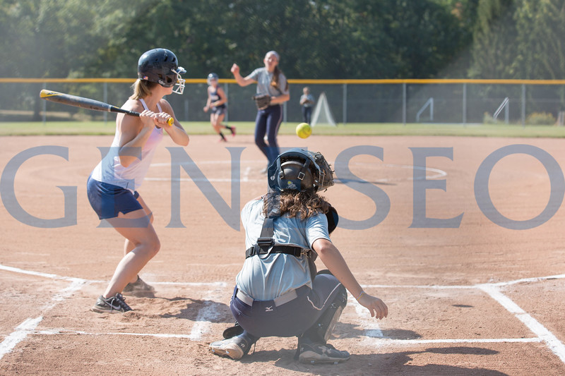 Fall 2017 alumni softball game. Photos by Annalee Bainnson