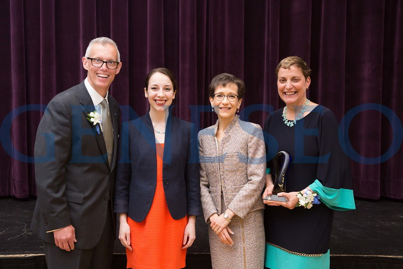 John and MaryGrace Gleason with Francesca DiGiorgio and President Denise Battles