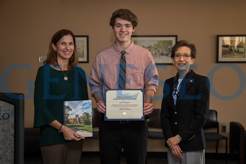 Fall 2017 Kelsey Annese scholarship reception first ever recipient photo by Ben Gajewski