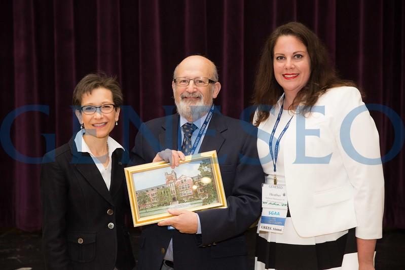 Dr. Thomas (Tom) Greenfield receives the Honorary Lifetime Membership to the SGAA