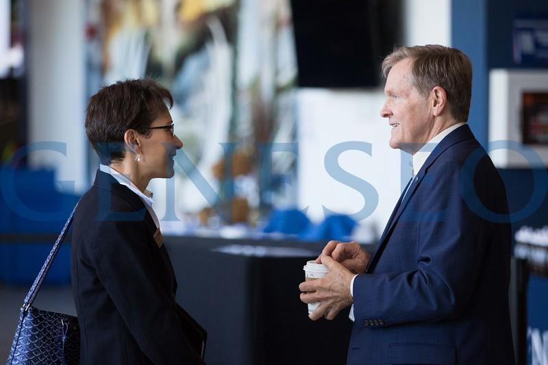 William (Bill) Sadler and President Denise Battles