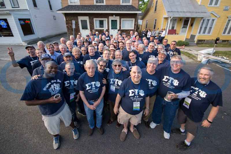Sig Tau 55th anniversary group photo