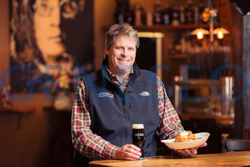 Peter Kreinheder with Nut Brown Ale and Shepards pie