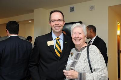 Ted Arnn '93 (left)Alumni Association President 2008-2010