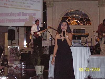 Ko Zan Mra 82Sr IM1 (Aye Khin Tu's hubby) the bandleader in the background and May Sweet photo credit: Wah Wah Thi